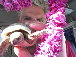 Selfie met gekrompen Shellfie.