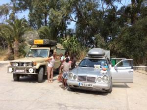 Met twee op de halfverkavelde camping Miramonte